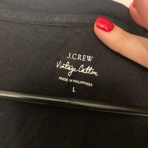 J. Crew Tops - J crew vintage cotton | black vneck
